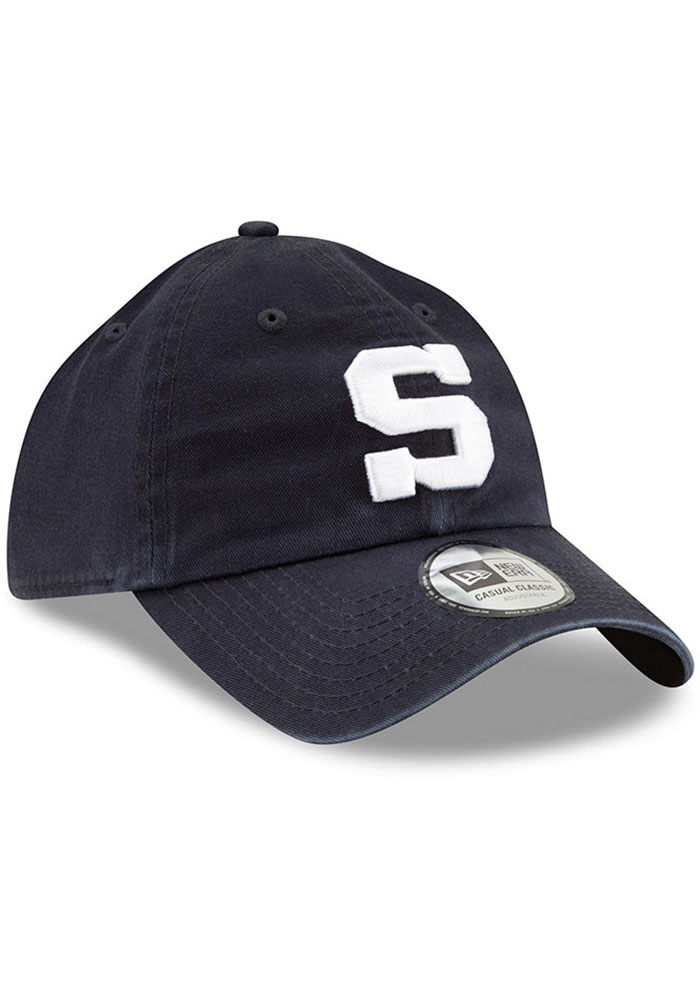 New Era Penn State Nittany Lions Casual Classic Adjustable Hat - Navy Blue - Image 1