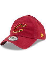 New Era Cleveland Cavaliers Casual Classic Adjustable Hat - Red