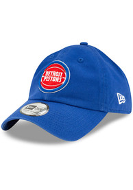 New Era Detroit Pistons Casual Classic Adjustable Hat - Blue