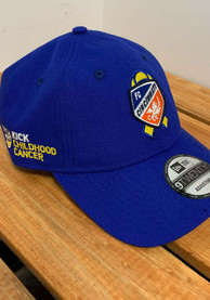 FC Cincinnati New Era Kick Childhood Cancer 9TWENTY Adjustable Hat - Blue