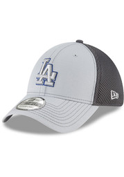 New Era Los Angeles Dodgers Mens Grey Grayed Out Neo 39THIRTY Flex Hat