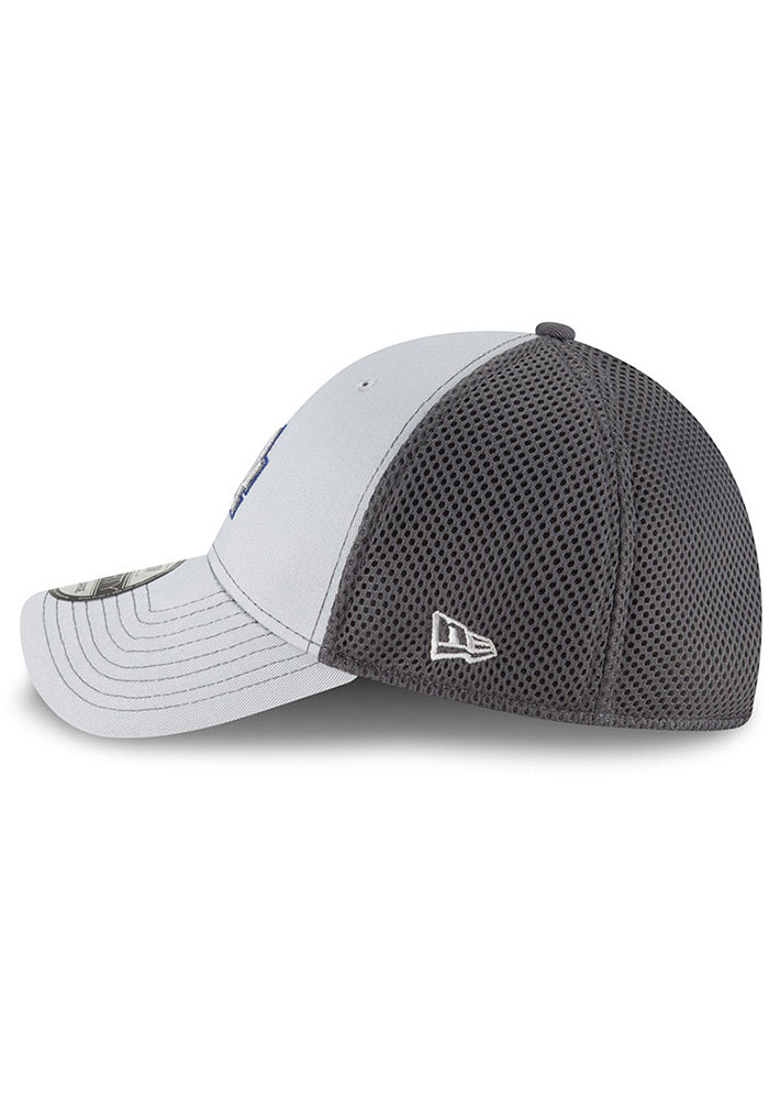 New Era Los Angeles Dodgers Mens Grey Grayed Out Neo 39THIRTY Flex Hat - Image 4