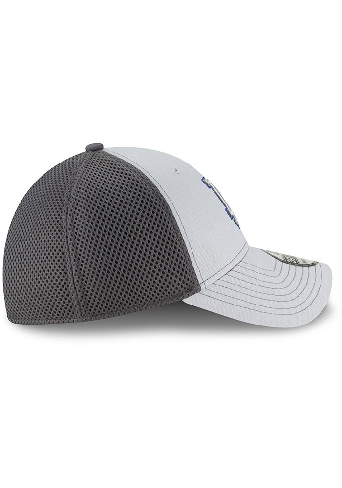 New Era Los Angeles Dodgers Mens Grey Grayed Out Neo 39THIRTY Flex Hat - Image 6