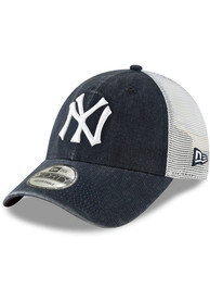 New York Yankees New Era Cooperstown Trucker 9FORTY Adjustable Hat - Navy Blue