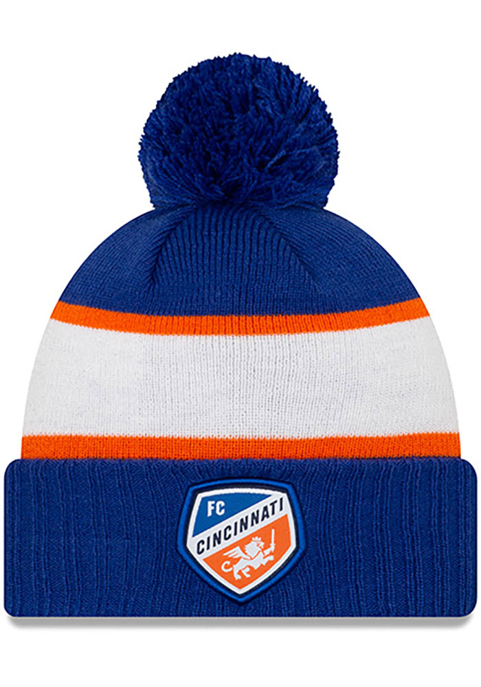 New Era FC Cincinnati Blue Pride Cuff Pom Knit Hat