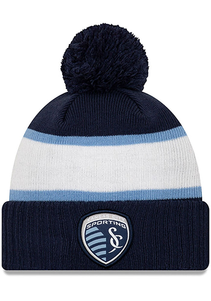 Sporting Kansas City New Era Pride Cuff Pom Knit - Navy Blue