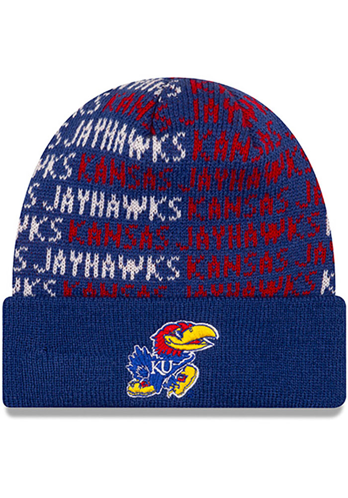 New Era Kansas Jayhawks Chant Baby Knit Hat - Blue