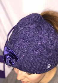 New Era K-State Wildcats Womens Purple Soft Sherpa Ponytail Cuff Knit Hat