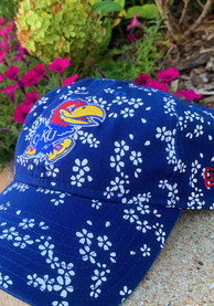 New Era Kansas Jayhawks Womens Blue Floral Burst 9TWENTY Adjustable Hat