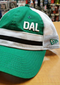 New Era Dallas Ft Worth Stripe Trucker 9TWENTY Adjustable Hat - Green