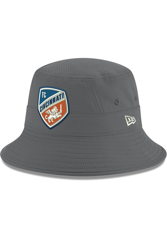New Era FC Cincinnati Grey Crest Mens Bucket Hat - Image 1