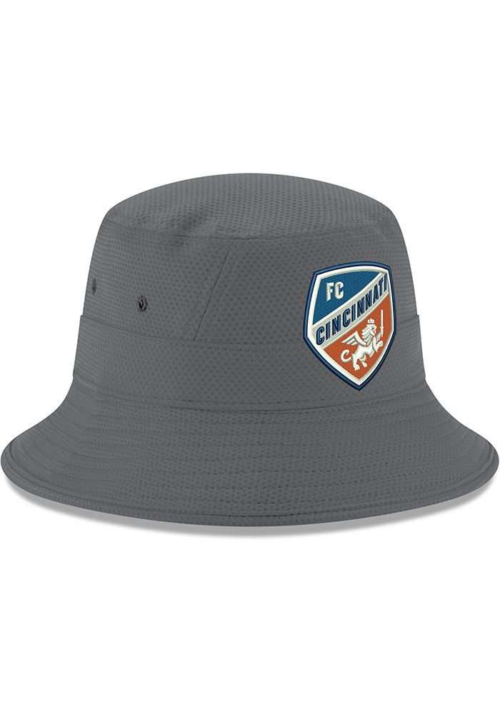 New Era FC Cincinnati Grey Crest Mens Bucket Hat - Image 2