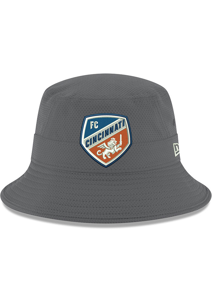 New Era FC Cincinnati Grey Crest Mens Bucket Hat - Image 3