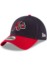 New Era Atlanta Braves Core Classic 9TWENTY Adjustable Hat - Navy Blue