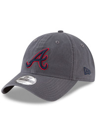New Era Atlanta Braves Core Classic 9TWENTY Adjustable Hat - Grey