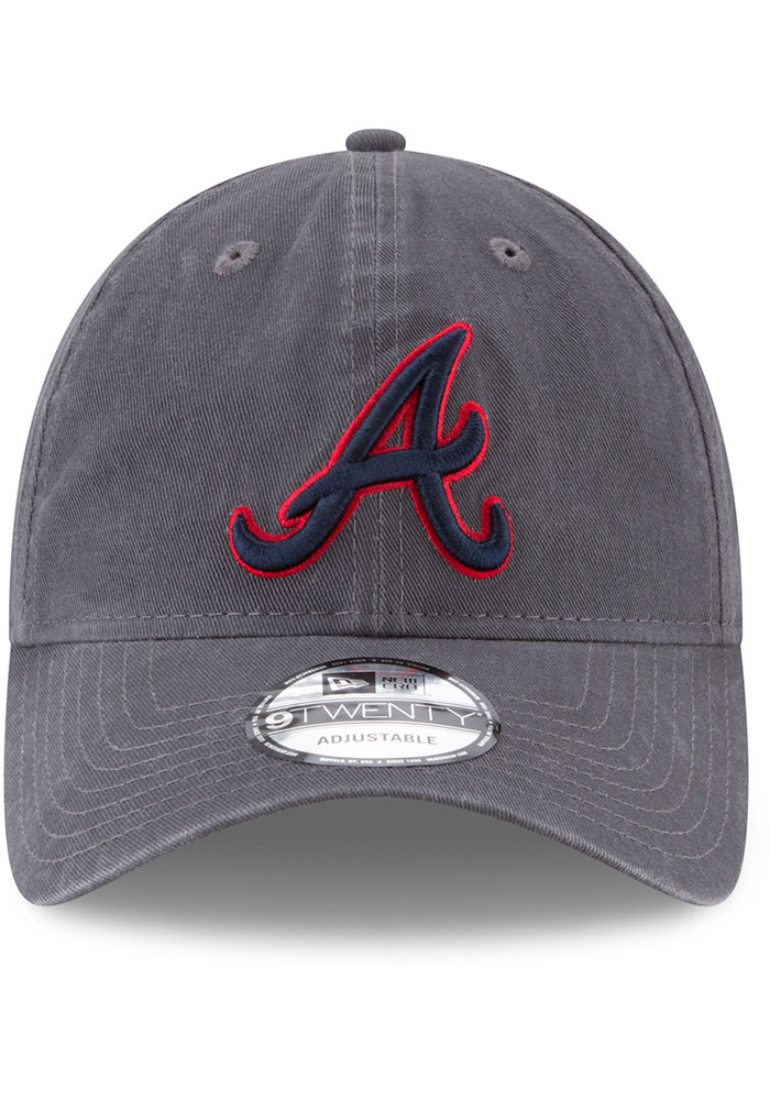 New Era Atlanta Braves Core Classic 9TWENTY Adjustable Hat - Grey - Image 3