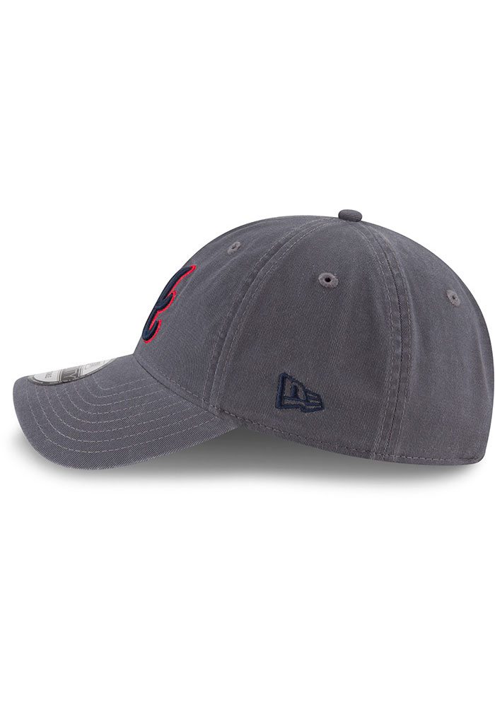 New Era Atlanta Braves Core Classic 9TWENTY Adjustable Hat - Grey - Image 4