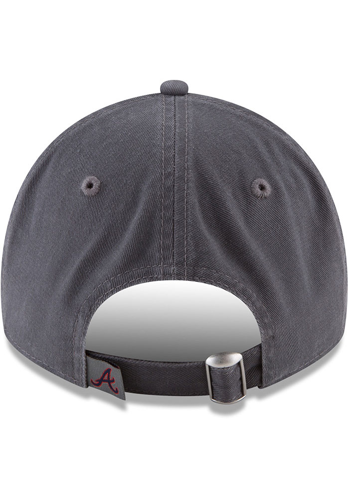 New Era Atlanta Braves Core Classic 9TWENTY Adjustable Hat - Grey - Image 5