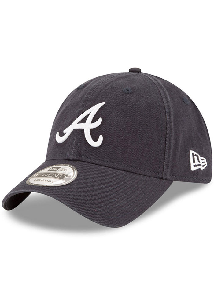 New Era Atlanta Braves Core Classic Replica 9TWENTY Adjustable Hat - Navy Blue