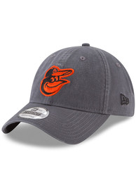 Baltimore Orioles New Era Core Classic 9TWENTY Adjustable Hat - Grey