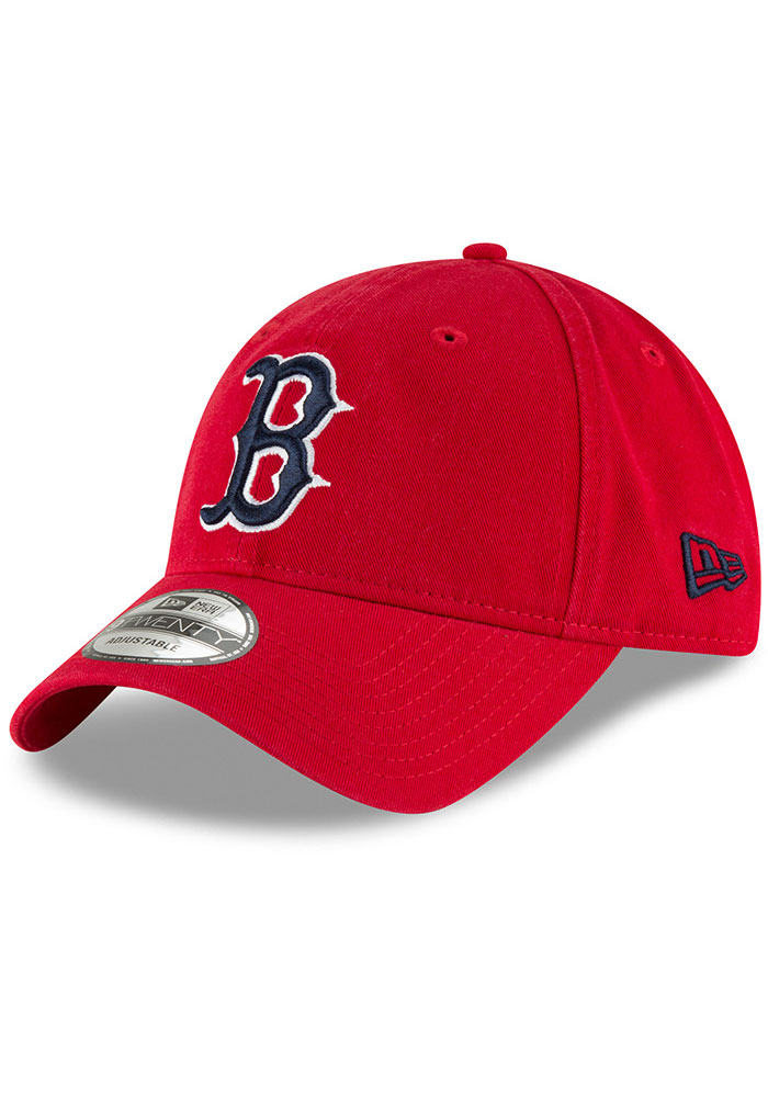 New Era Boston Red Sox Core Classic 9TWENTY Adjustable Hat - Red - Image 1