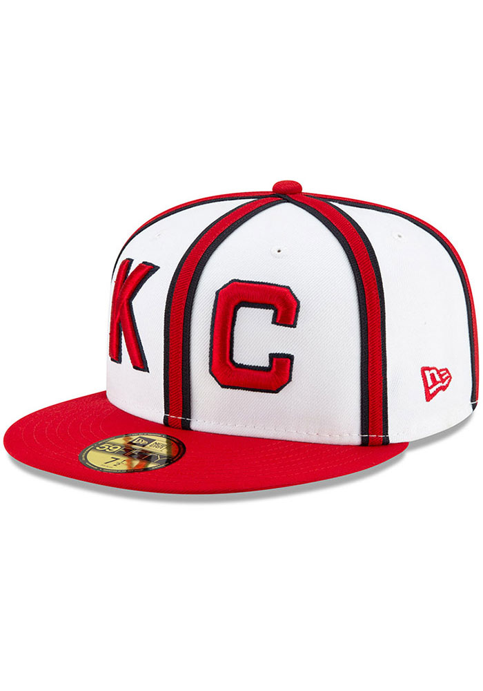 New Era Kansas City Monarchs Mens White 2019 TBTC 59FIFTY Fitted Hat - Image 1