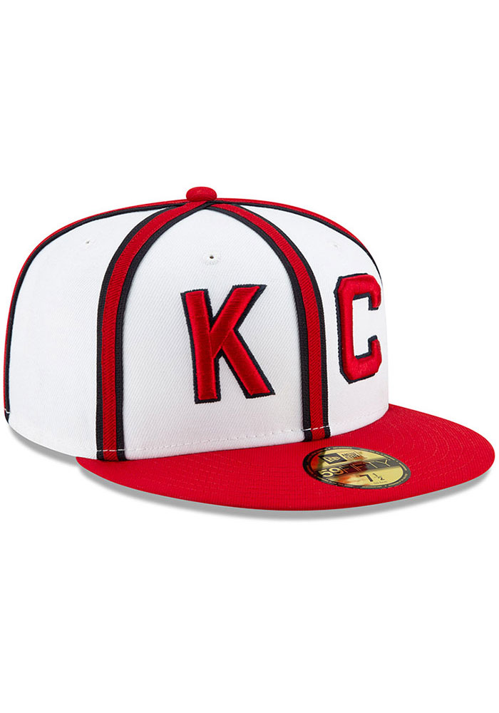 New Era Kansas City Monarchs Mens White 2019 TBTC 59FIFTY Fitted Hat - Image 2
