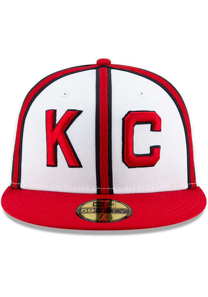 New Era Kansas City Monarchs Mens White 2019 TBTC 59FIFTY Fitted Hat - Image 3