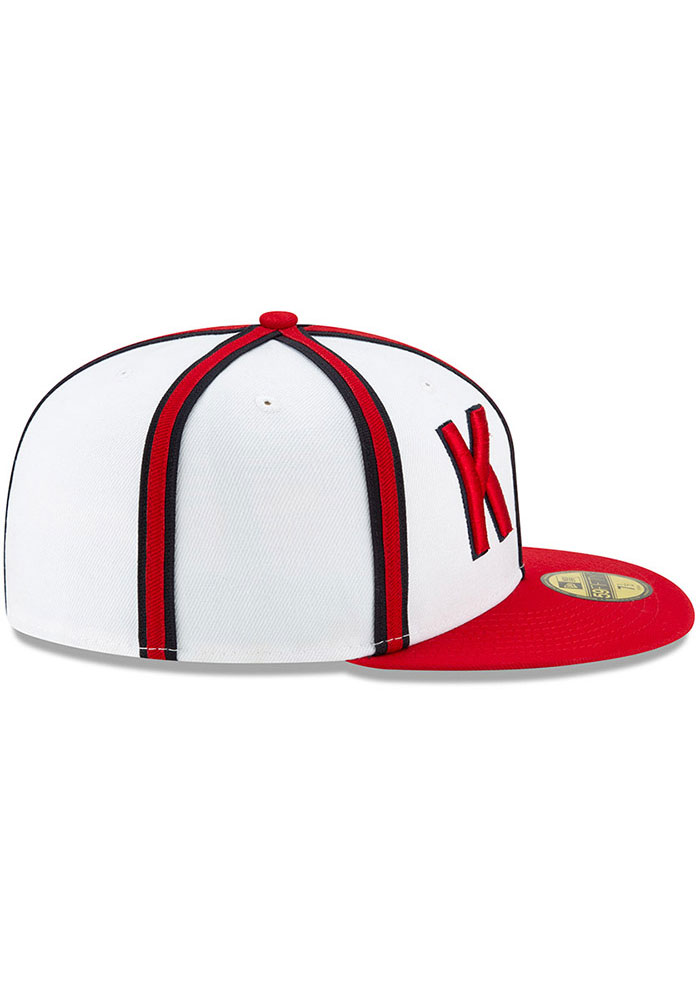 New Era Kansas City Monarchs Mens White 2019 TBTC 59FIFTY Fitted Hat - Image 6