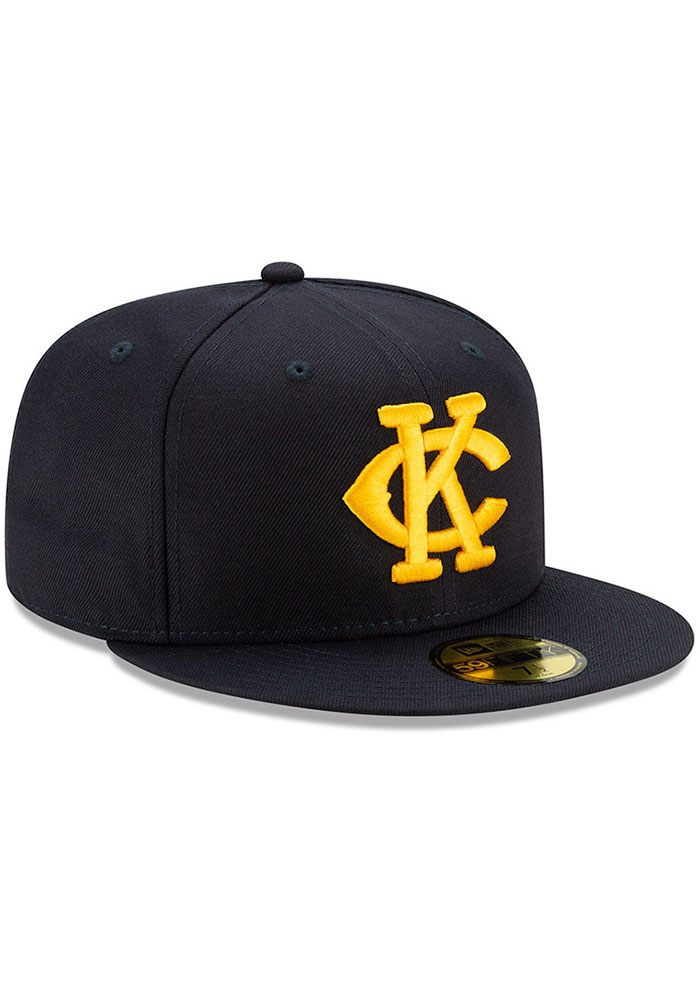 New Era Kansas City Monarchs Mens Navy Blue 2019 TBTC 59FIFTY Fitted Hat - Image 2