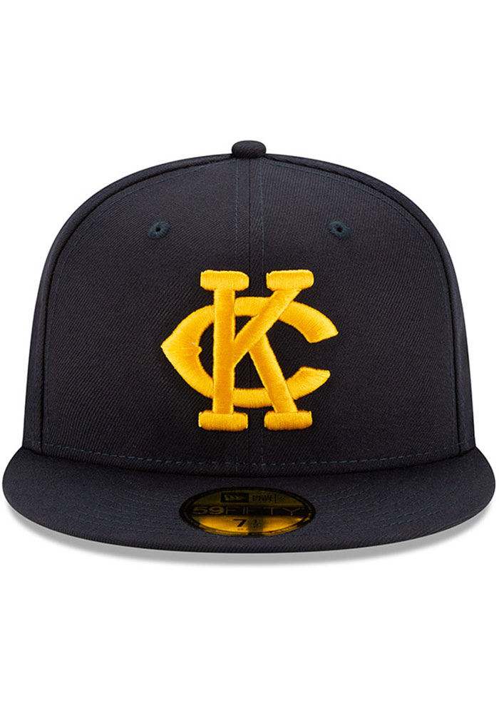 New Era Kansas City Monarchs Mens Navy Blue 2019 TBTC 59FIFTY Fitted Hat - Image 3