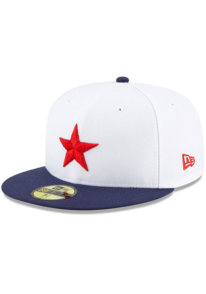 New Era Detroit Stars Mens White 2019 TBTC 59FIFTY Fitted Hat - Image 1