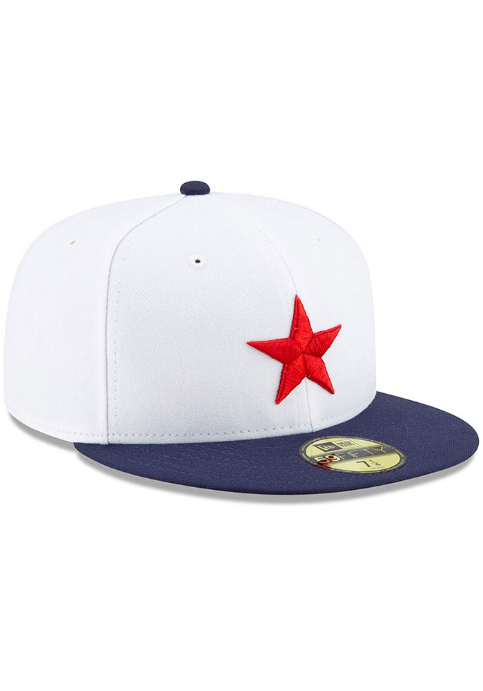 New Era Detroit Stars Mens White 2019 TBTC 59FIFTY Fitted Hat - Image 2