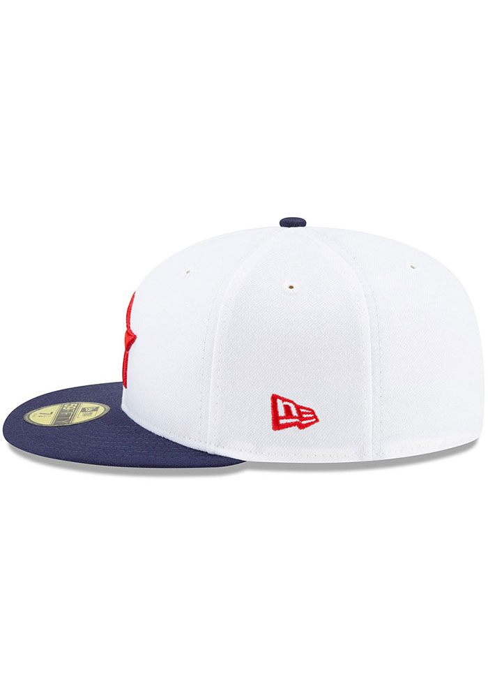 New Era Detroit Stars Mens White 2019 TBTC 59FIFTY Fitted Hat - Image 3