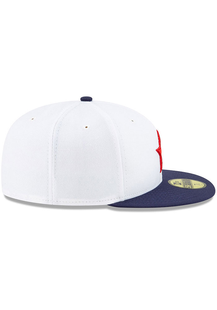 New Era Detroit Stars Mens White 2019 TBTC 59FIFTY Fitted Hat - Image 4