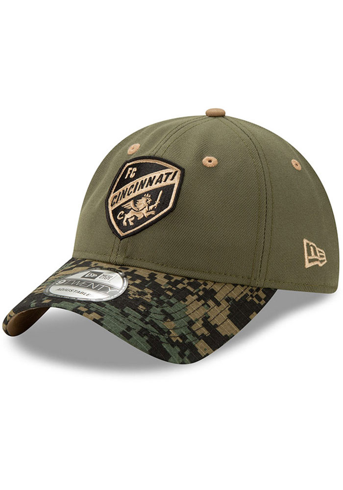 FC Cincinnati New Era Military Appreciation 9TWENTY Adjustable Hat - Olive