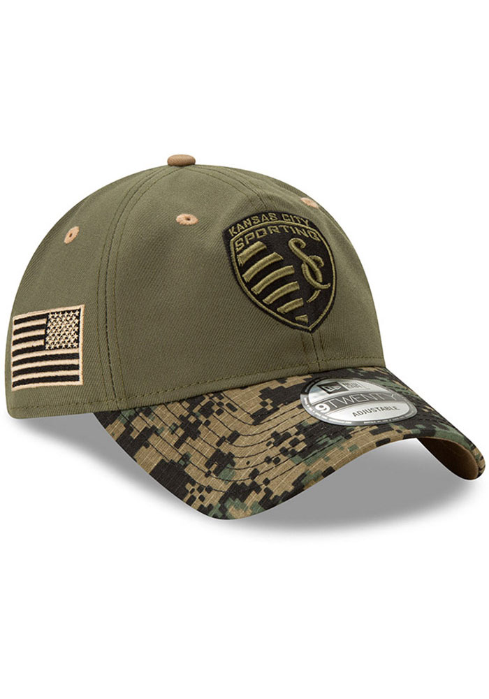 New Era Sporting Kansas City Military Appreciation 9TWENTY Adjustable Hat - Olive - Image 2