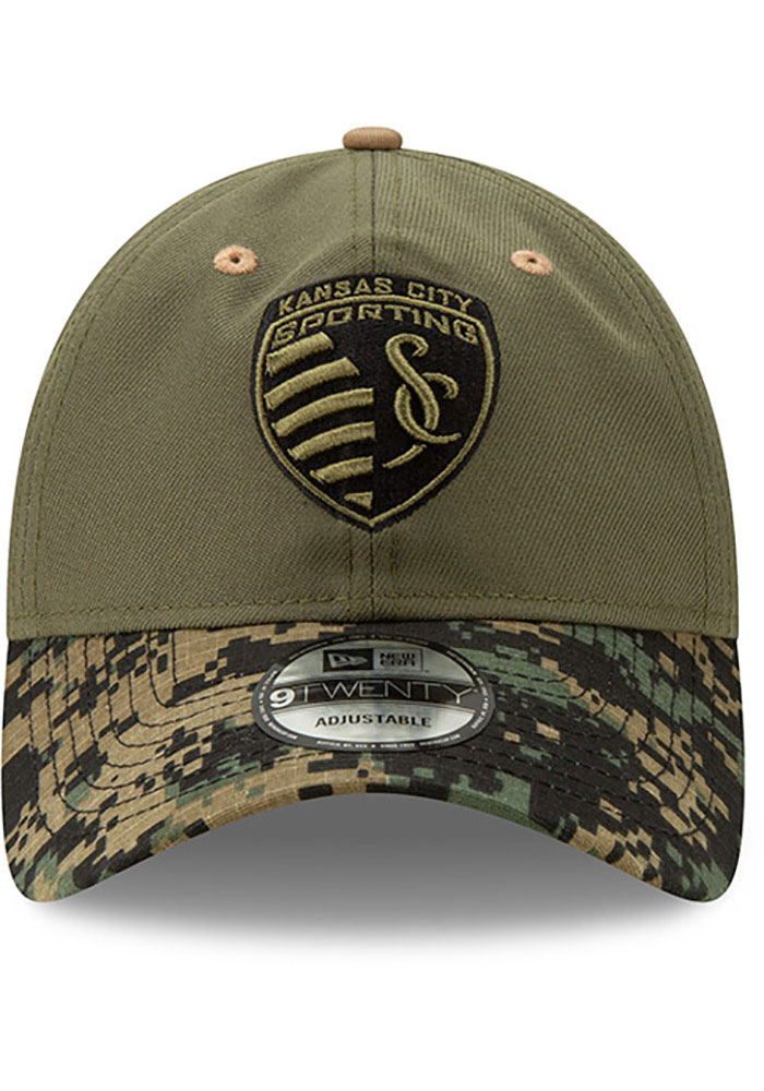 New Era Sporting Kansas City Military Appreciation 9TWENTY Adjustable Hat - Olive - Image 3