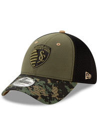 Sporting Kansas City New Era Military Appreciation 39THIRTY Flex Hat - Olive