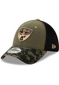 New Era FC Dallas Olive Military Appreciation 39THIRTY Flex Hat