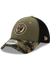 New Era Philadelphia Union Olive Military Appreciation 39THIRTY Flex Hat