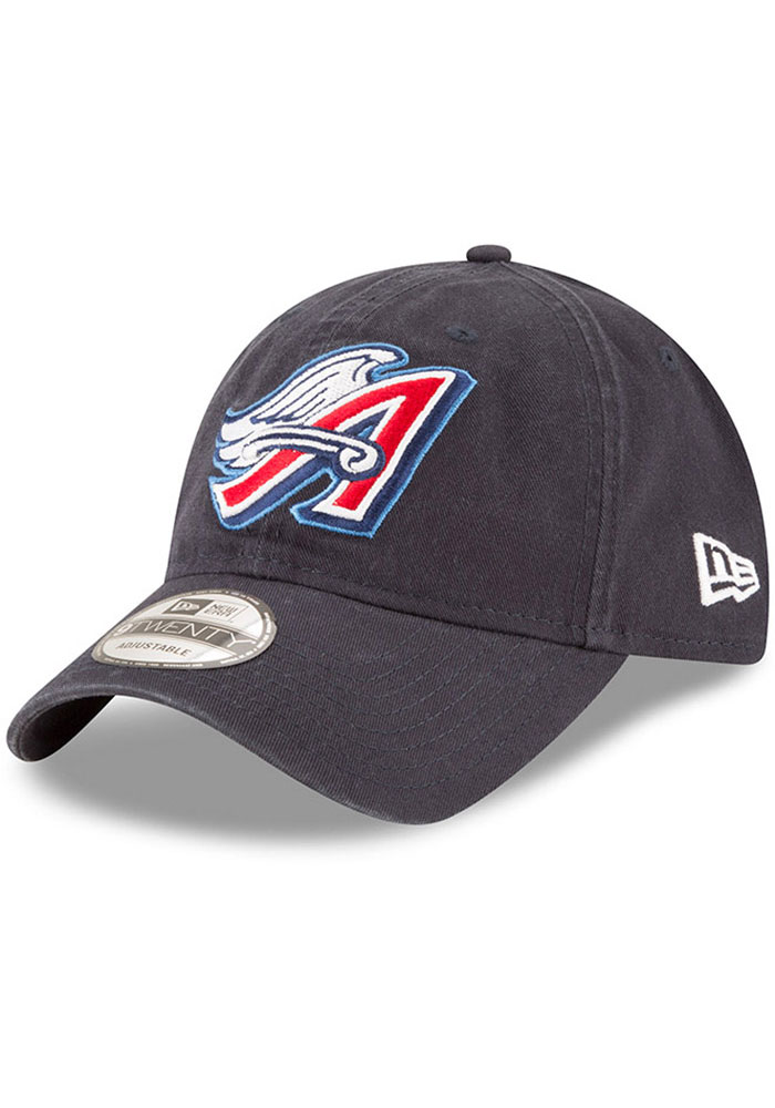 New Era Los Angeles Angels Core Classic Replica 9TWENTY Adjustable Hat - Navy Blue - Image 1