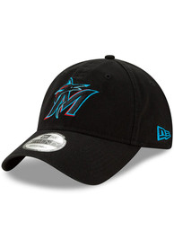 New Era Miami Marlins Core Classic Replica 9TWENTY Adjustable Hat - Black