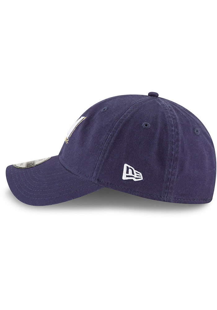 New Era Milwaukee Brewers Core Classic Replica 9TWENTY Adjustable Hat - Navy Blue - Image 4