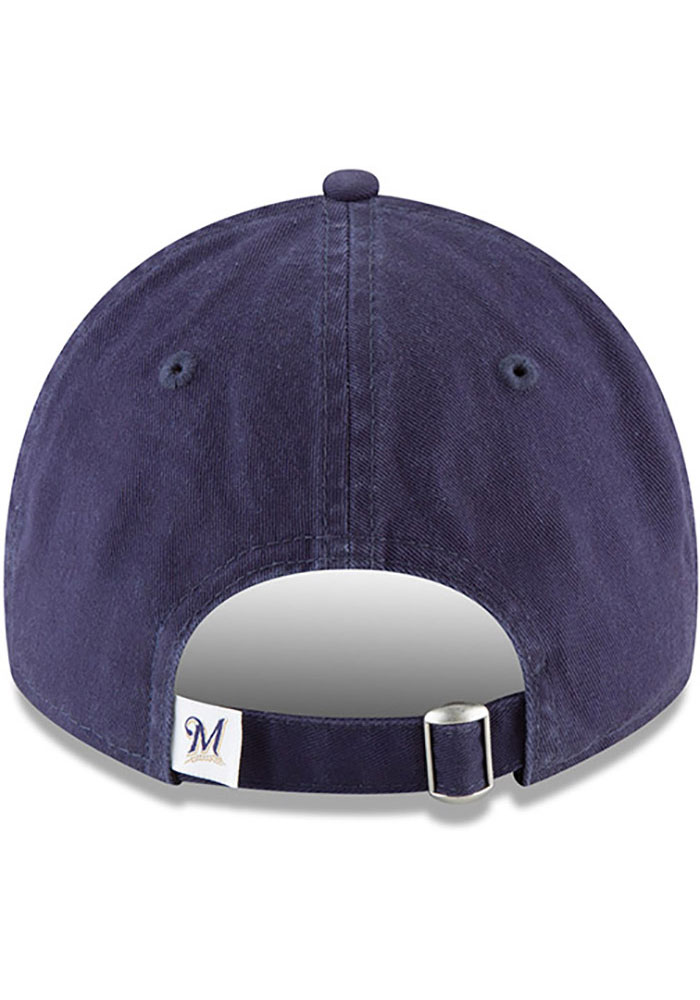 New Era Milwaukee Brewers Core Classic Replica 9TWENTY Adjustable Hat - Navy Blue - Image 5