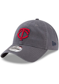 New Era Minnesota Twins Core Classic 9TWENTY Adjustable Hat - Grey