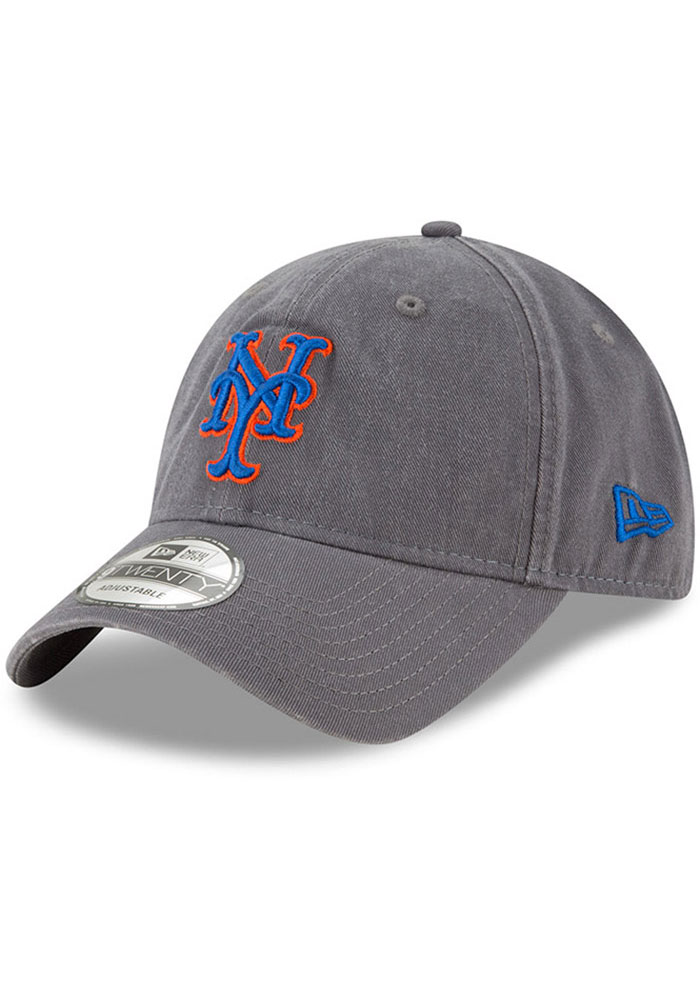 New Era New York Mets Core Classic 9TWENTY Adjustable Hat - Grey