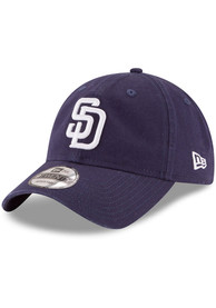 San Diego Padres New Era Core Classic Replica 9TWENTY Adjustable Hat - Navy Blue