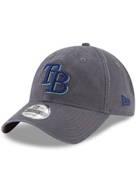 Tampa Bay Rays New Era Core Classic 9TWENTY Adjustable Hat - Grey