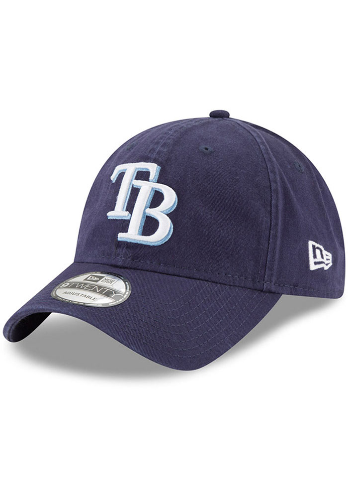New Era Tampa Bay Rays Core Classic Replica 9TWENTY Adjustable Hat - Navy Blue